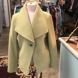 Jones New York Light Green Portrait Collar Coat LG